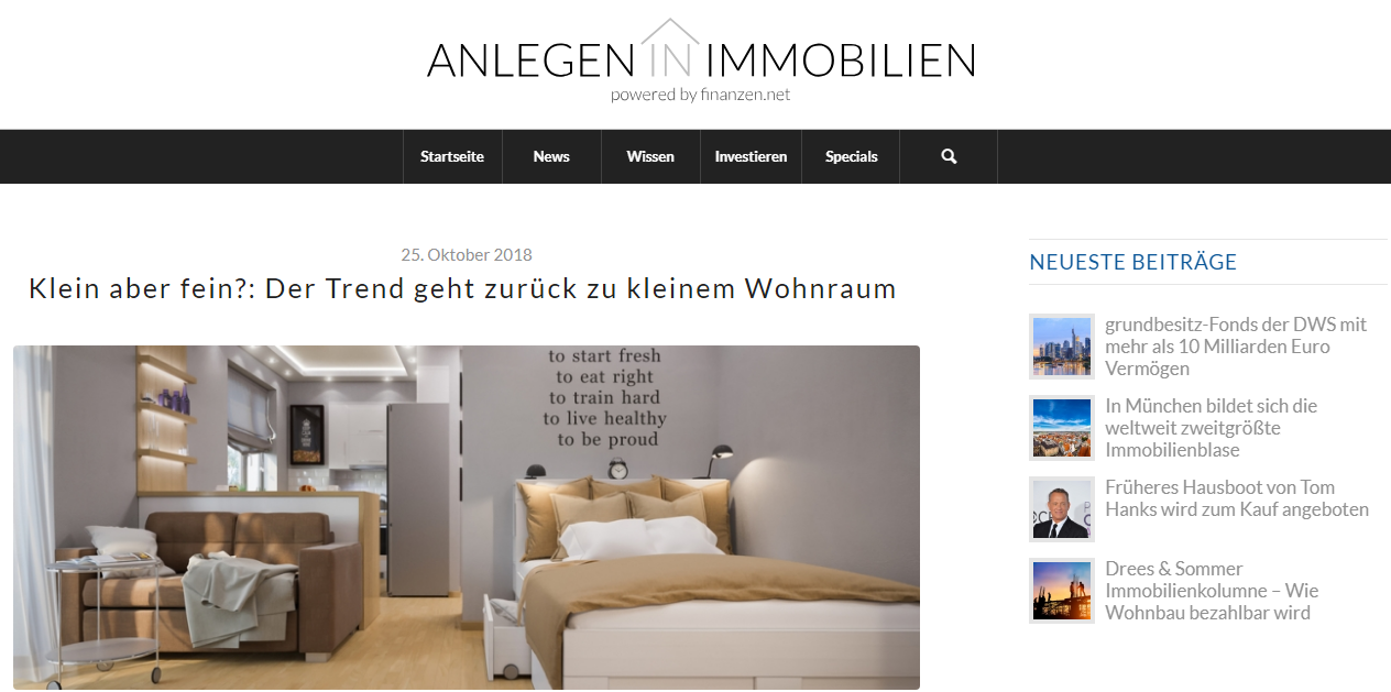 Anlegen in Immobilien page